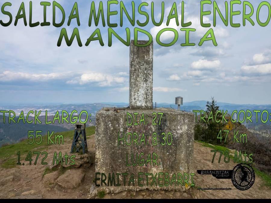 Cartel salida mensual Mandoia