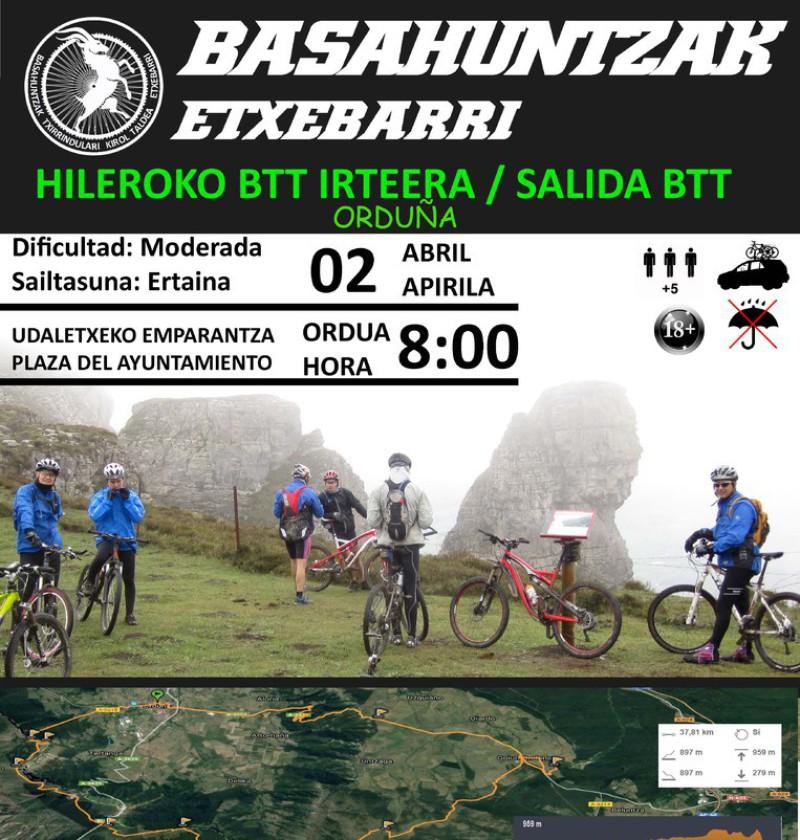Cartel salida Basahuntzak