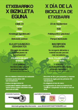 Cartel del día de la Bici 2018