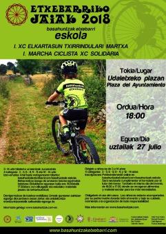 Cartel I Marcha Ciclista XC Solidaria Etxebarriko Jaiak
