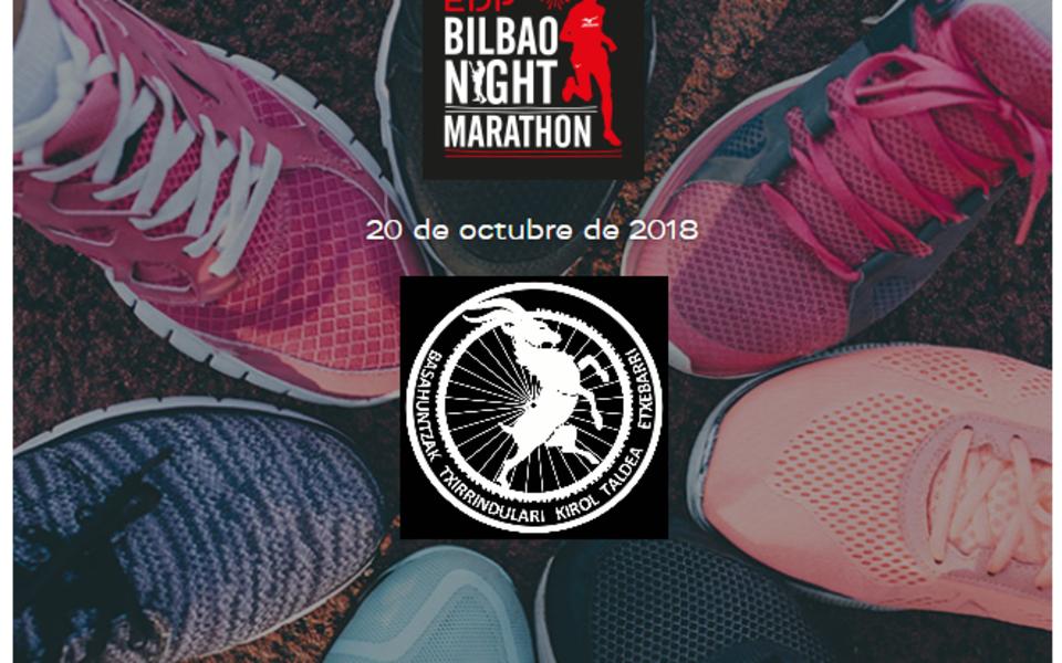 BASAHUNTZAK en el Bilbao Night Marathon 2018